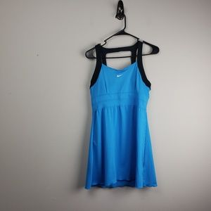 Nike Tennis Dress Size Medium Womens Black Blue